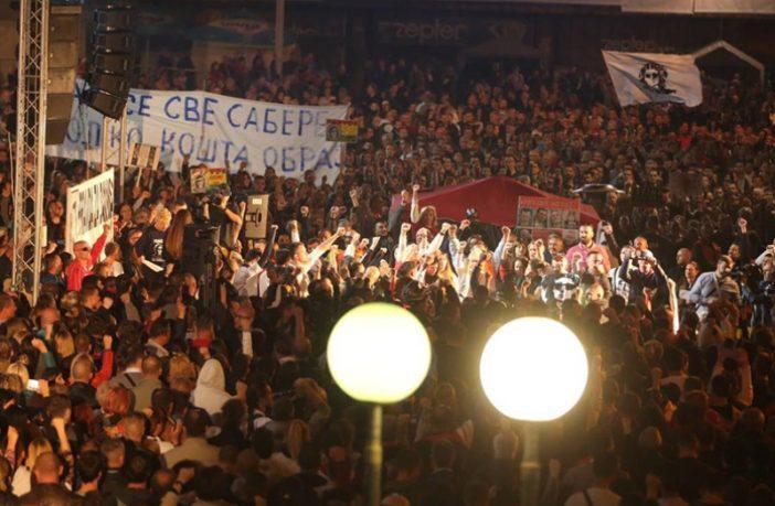Dragičević pred 40.000 ljudi na Trgu Krajine: Mi smo ljudi, a oni su ubice!