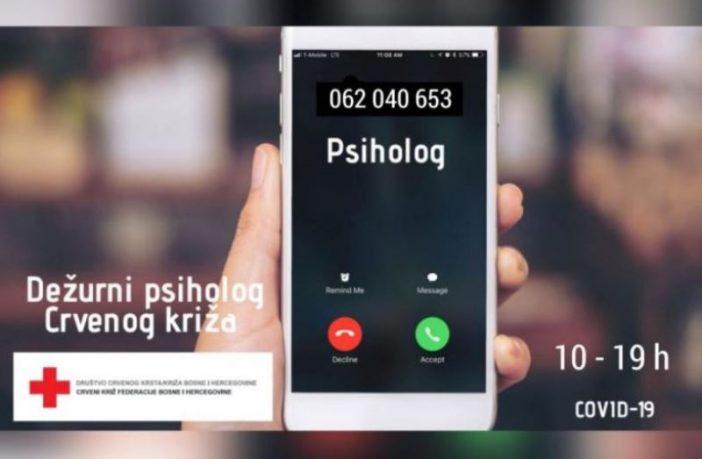 Kako se nositi sa strahom i stresom: Crveni križ FBiH otvorio telefonsku liniju za psihosocijalnu podršku