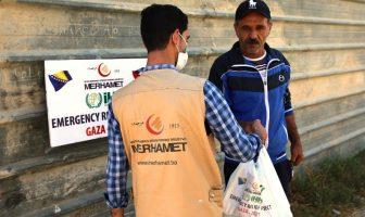 Palestinskom narodu u Pojasu Gaze stigla prva isporuka humanitarne pomoći Merhameta i građana BiH